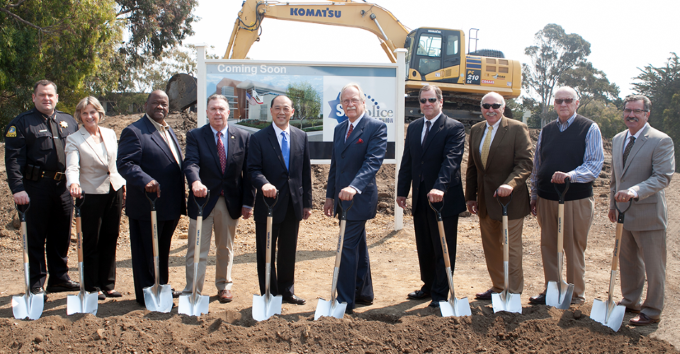 Board members breaking ground at our new location in 2016