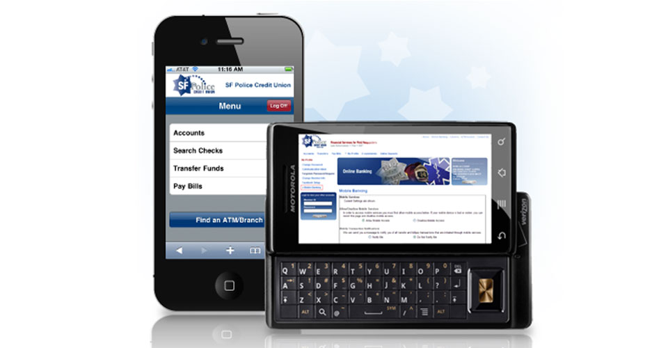 Examples of our website on mobile devices