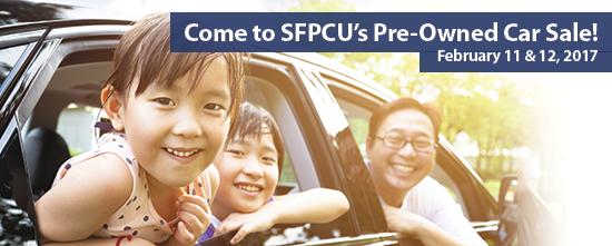 SFPCU Car Sale, February 11 & 12 in Pleasanton, CA