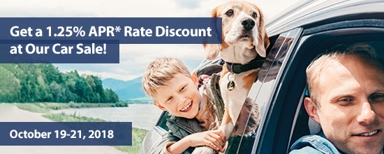 Get a 1.25* APR Rate Discount at Our Car Sale
