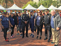 Police Chief during MS Walk