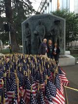 Employees at the Peace Officers Memorial