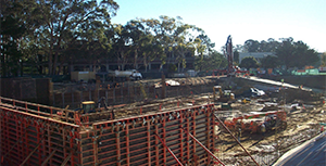 A photo of the construction site of SFPCU