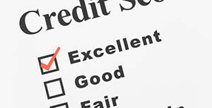 Credit Score with checkmark next to excellent