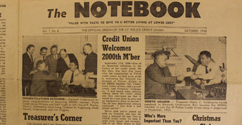 Our first newsletter from 1958